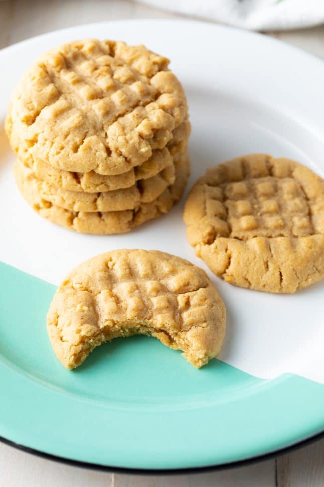 Homemade Peanut Butter Cookies Recipe #ASpicyPerspective #cookies #PNB #peanut #peanutbutter #best #holiday #christmas #halloween #easter