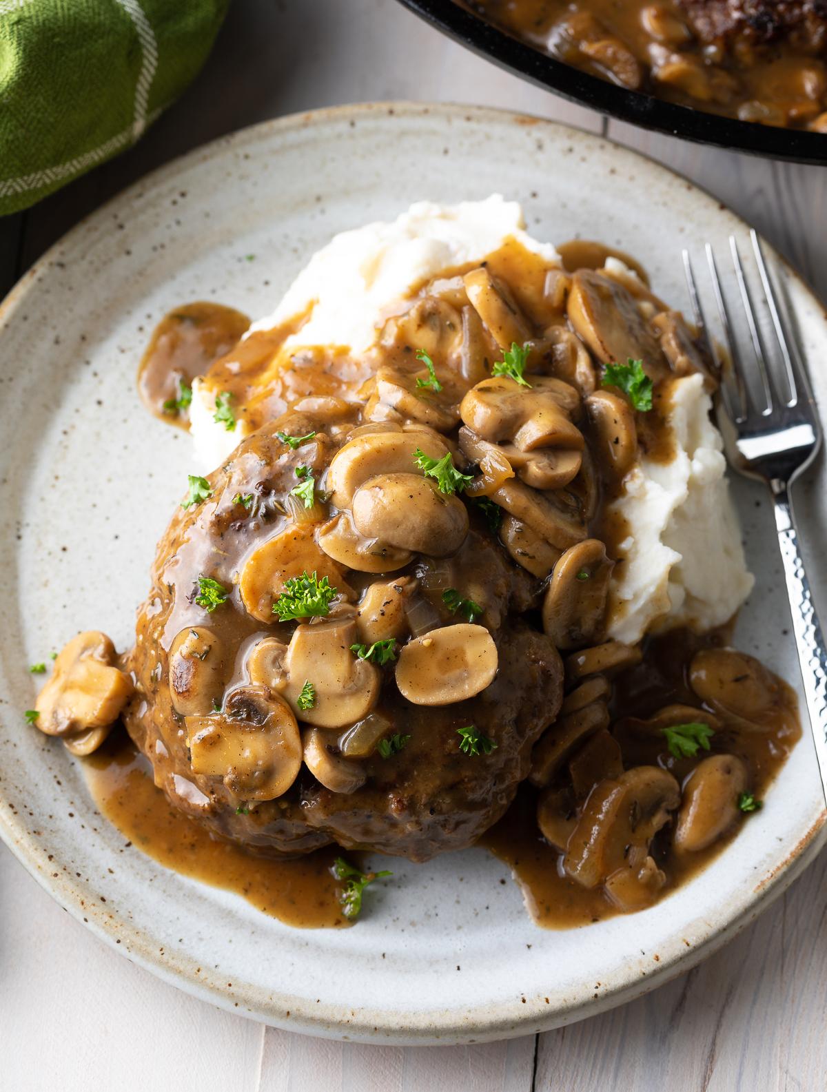 chopped steak recipe keto Chopped Steak with Mushroom Gravy Recipe (VIDEO)