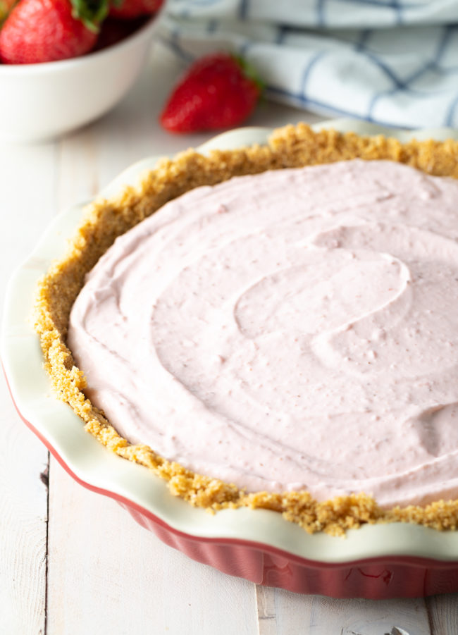 light and fluffy strawberry pie