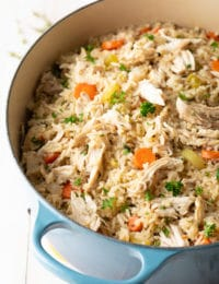 Easy Chicken and Rice Recipe #ASpicyPerspective #chicken #rice #instantpot #crockpot #slowcooker #southern