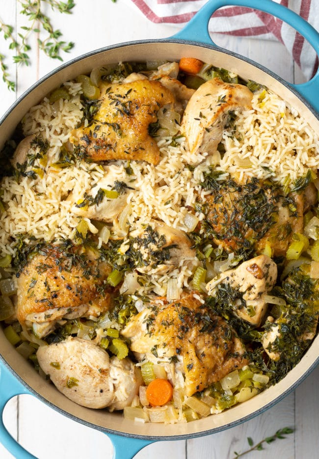 Best One Pot Chicken and Rice (Recipe) #ASpicyPerspective #chicken #rice #instantpot #crockpot #slowcooker #southern
