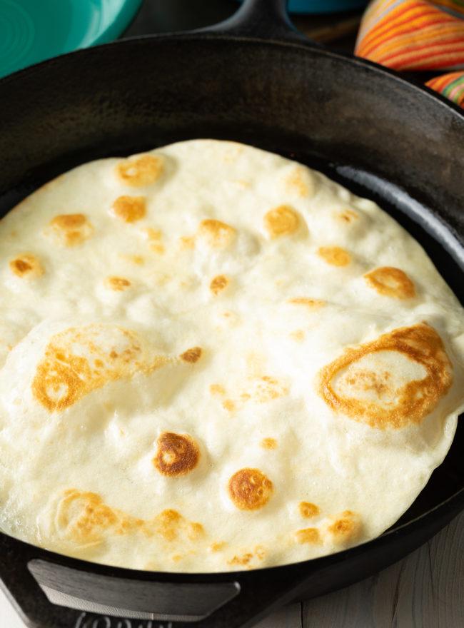 Cooking Flour Tortillas