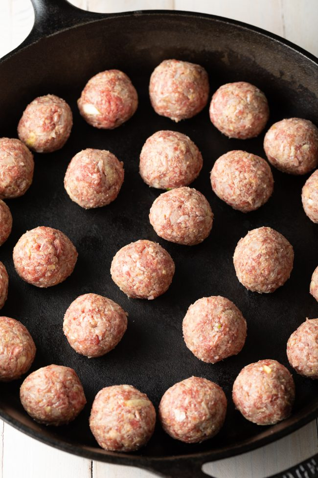 how to make Asian meatballs in one pan