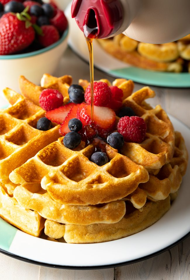 perfect stacked waffles