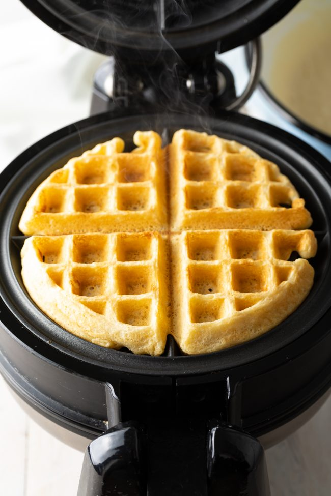 making waffles from scratch