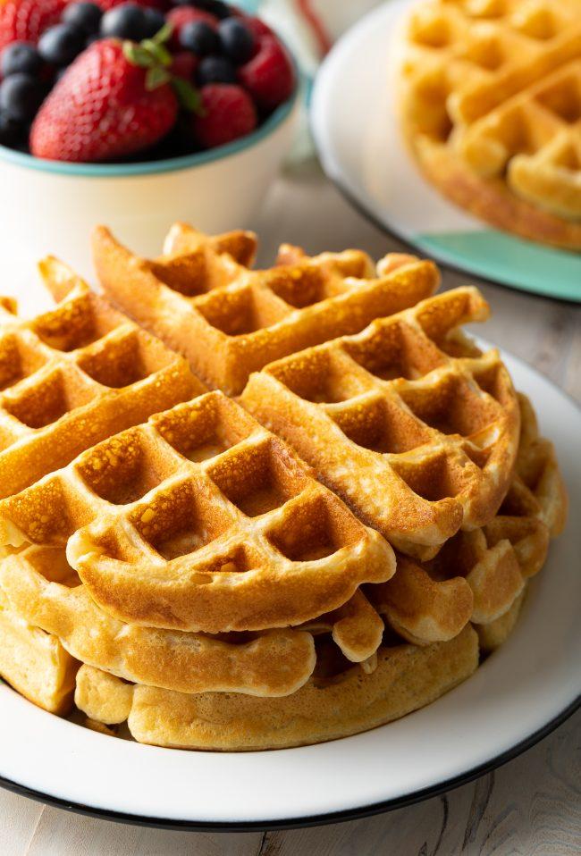 perfect plain waffles