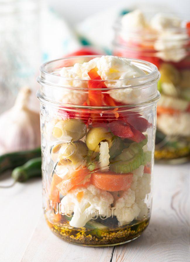 how to make our Giardiniera refrigerator pickles recipes