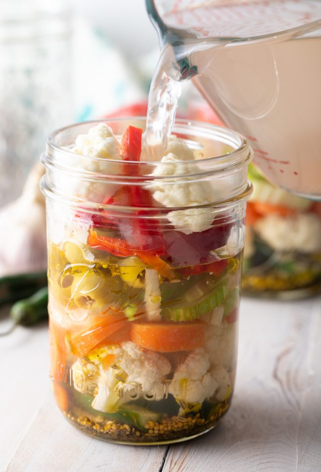 how to make italian pickled vegetables from scratch