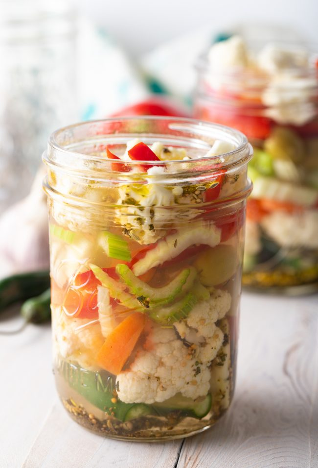 homemade italian pickled veggies
