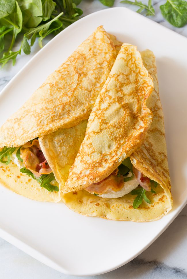 wrapped french crepes recipe
