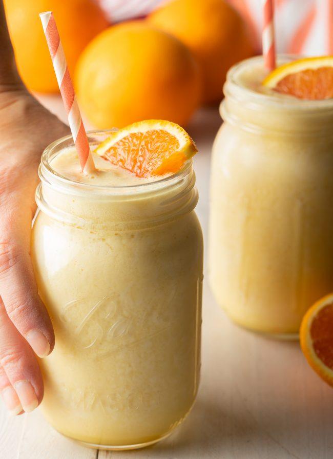 orange summertime smoothie drink - just like an orange creamsicle
