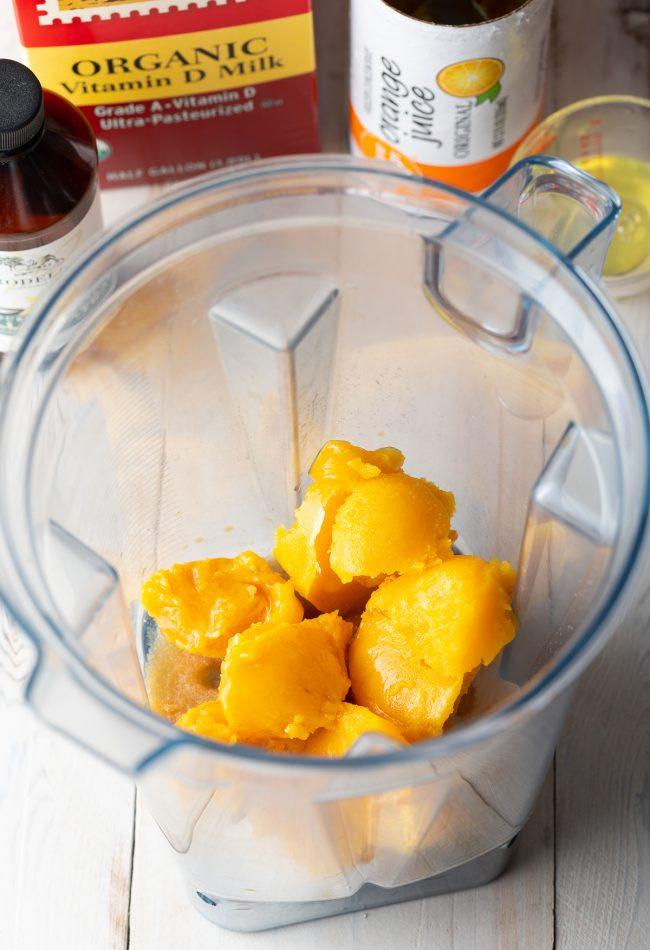 orange juice concentrate, sugar, water