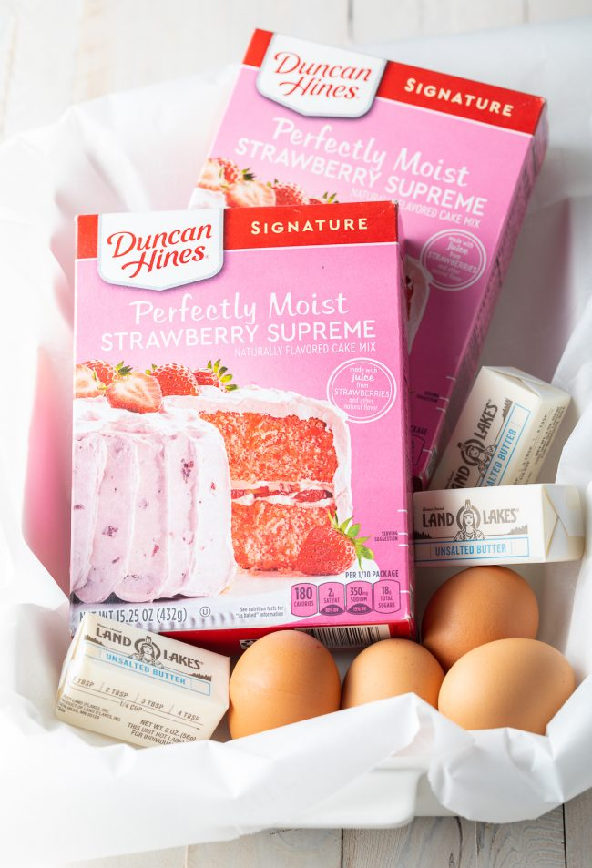 boxed strawberry cake mix