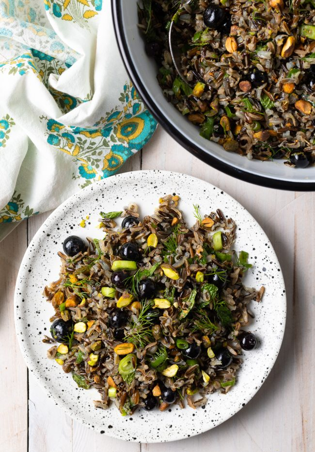 Wild Rice Salad with Blueberries and Herbs