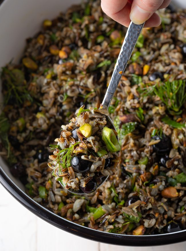 a perfect unique cold wild rice salad for summer