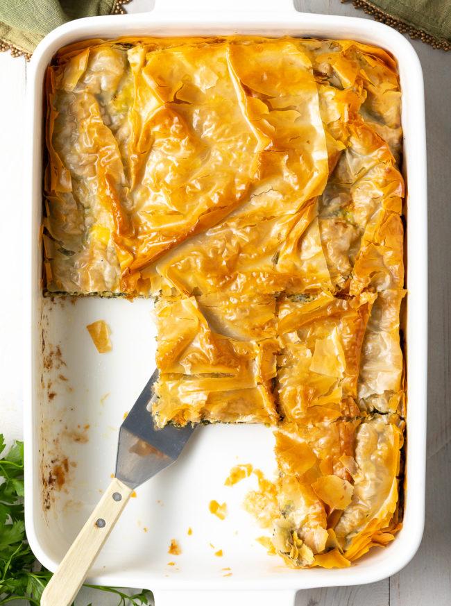 Irresistible Cheese Spinach Pie Recipe