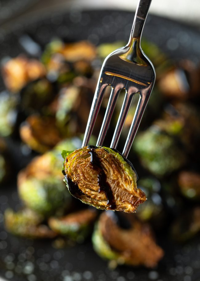fried sprout with balsamic