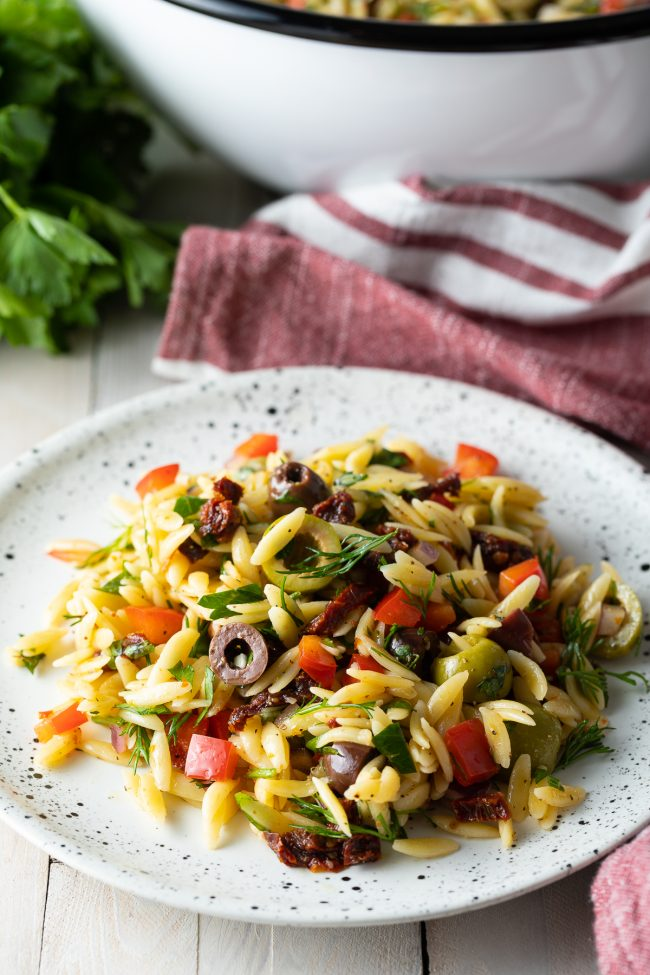 make-ahead summer pasta salad with lemon vinaigrette recipe