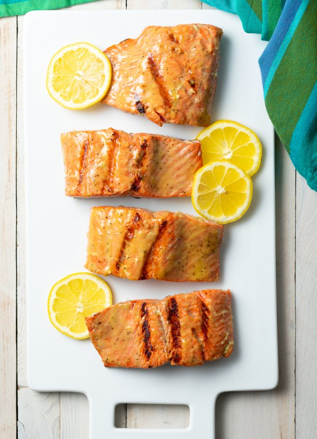 grilled salmon with salmon marinade