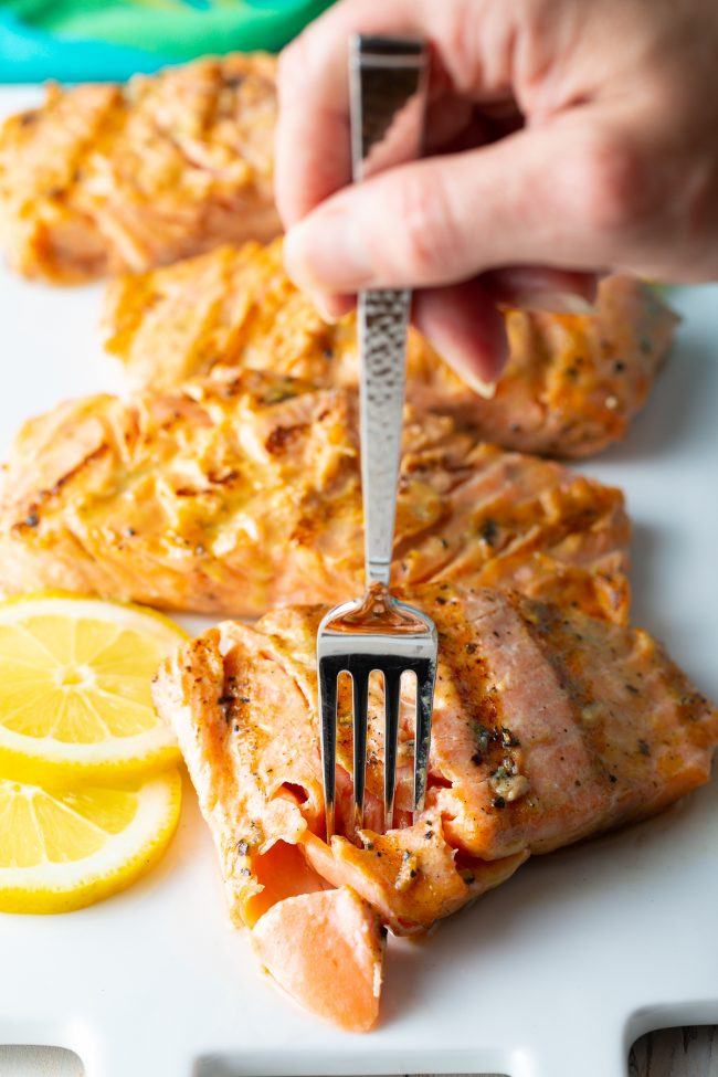 flaky tender grilled salmon