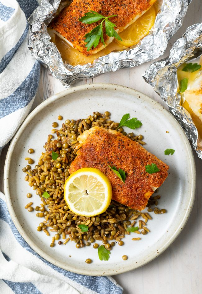 grilled whitefish with lemon