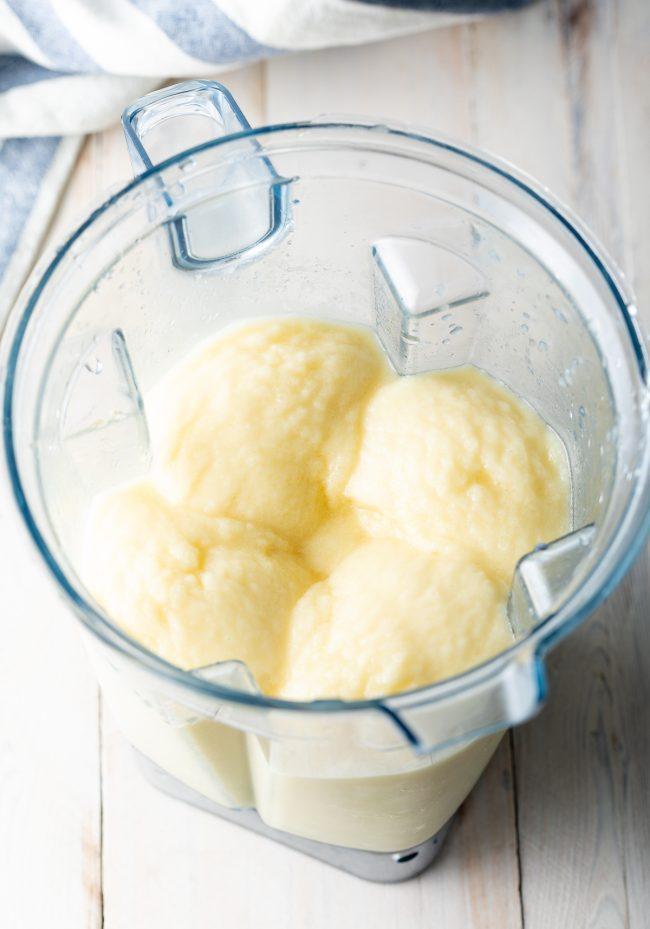frozen blended pina coladas
