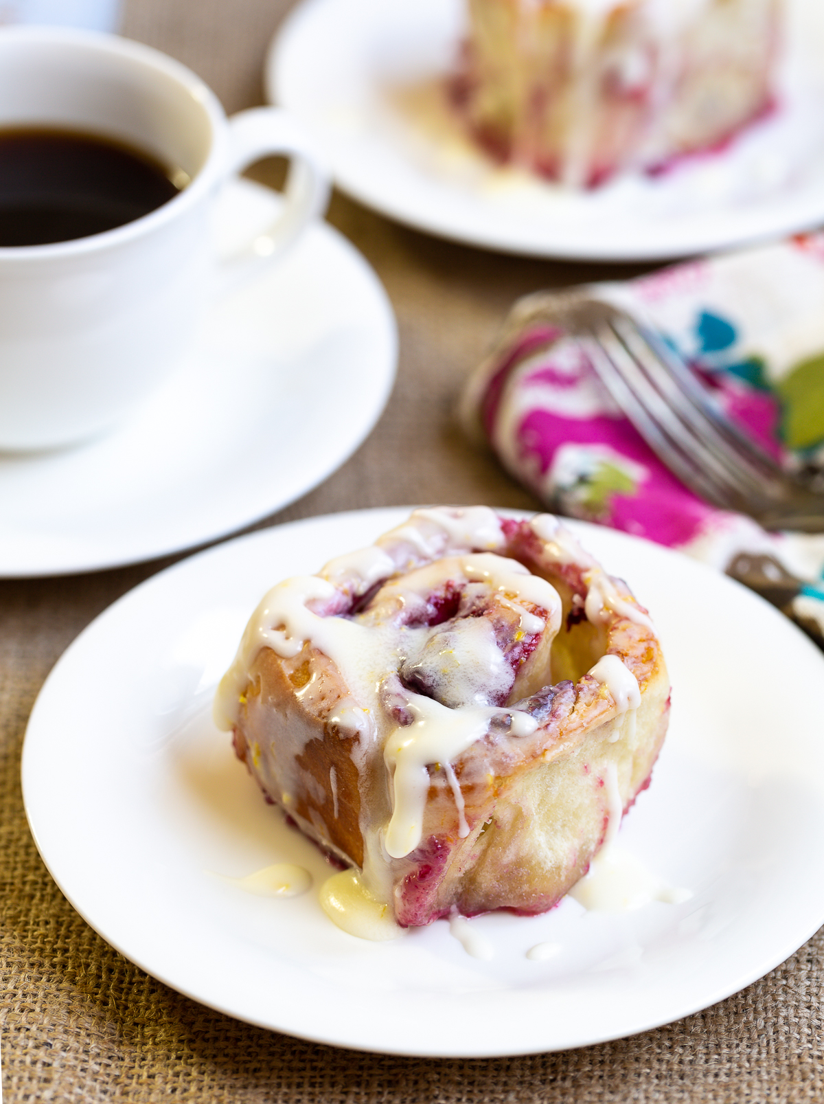 Raspberry Sticky Buns Recipe