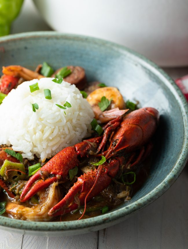 crawfish and rice