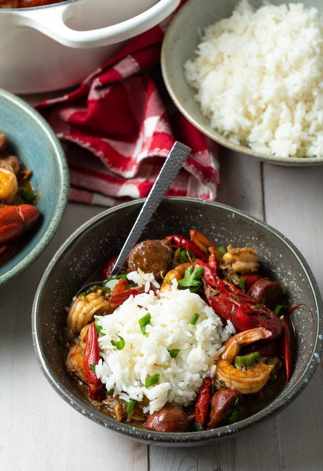 seafood cajun gumbo