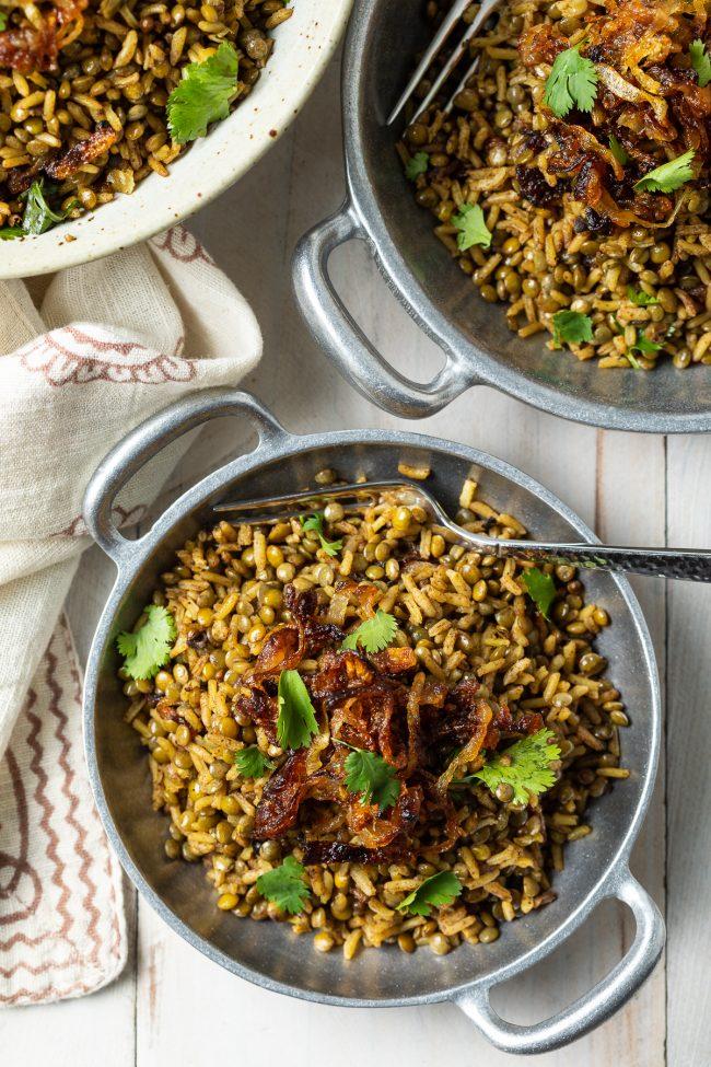 mujadara aka lebanese rice recipe