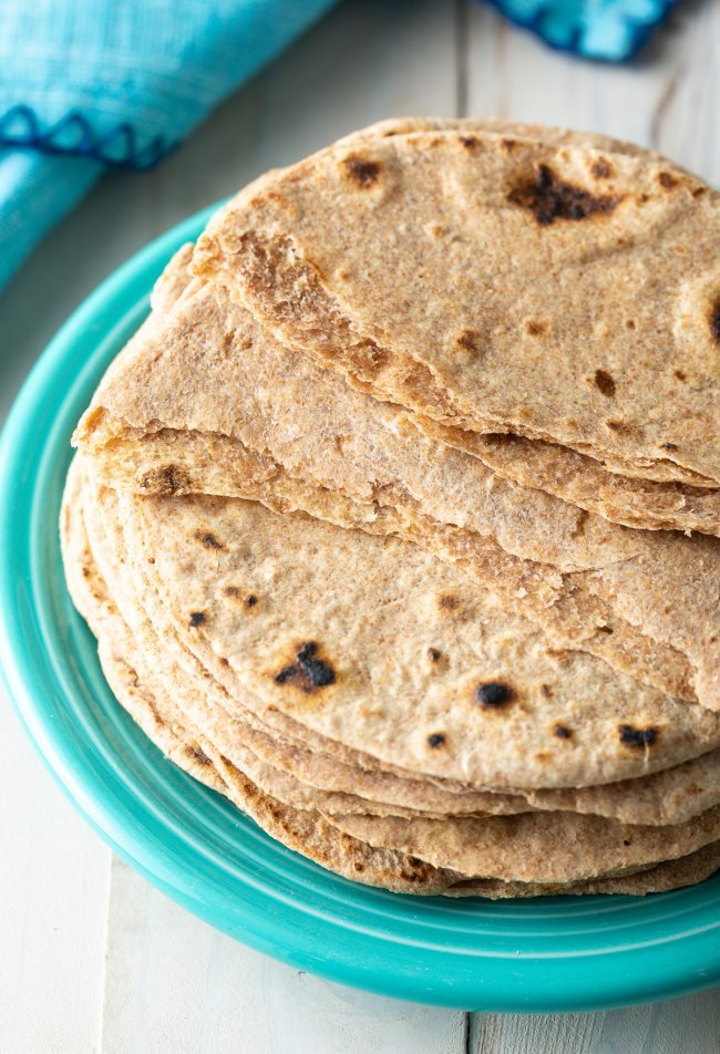 homemade chapati bread