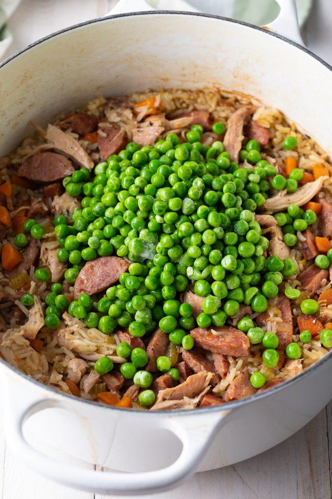 peas added last