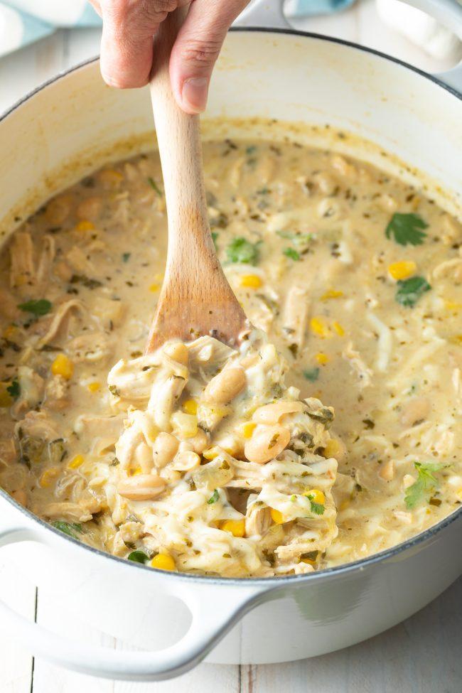 stovetop, instant pot, crockpot white chicken chili