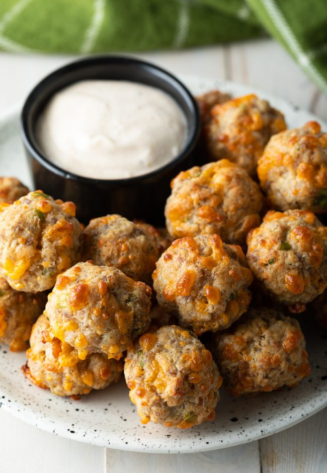 retro sausage and cheese balls