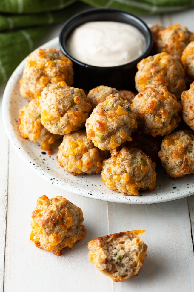 Bisquick cheese and sausage balls party appetizer