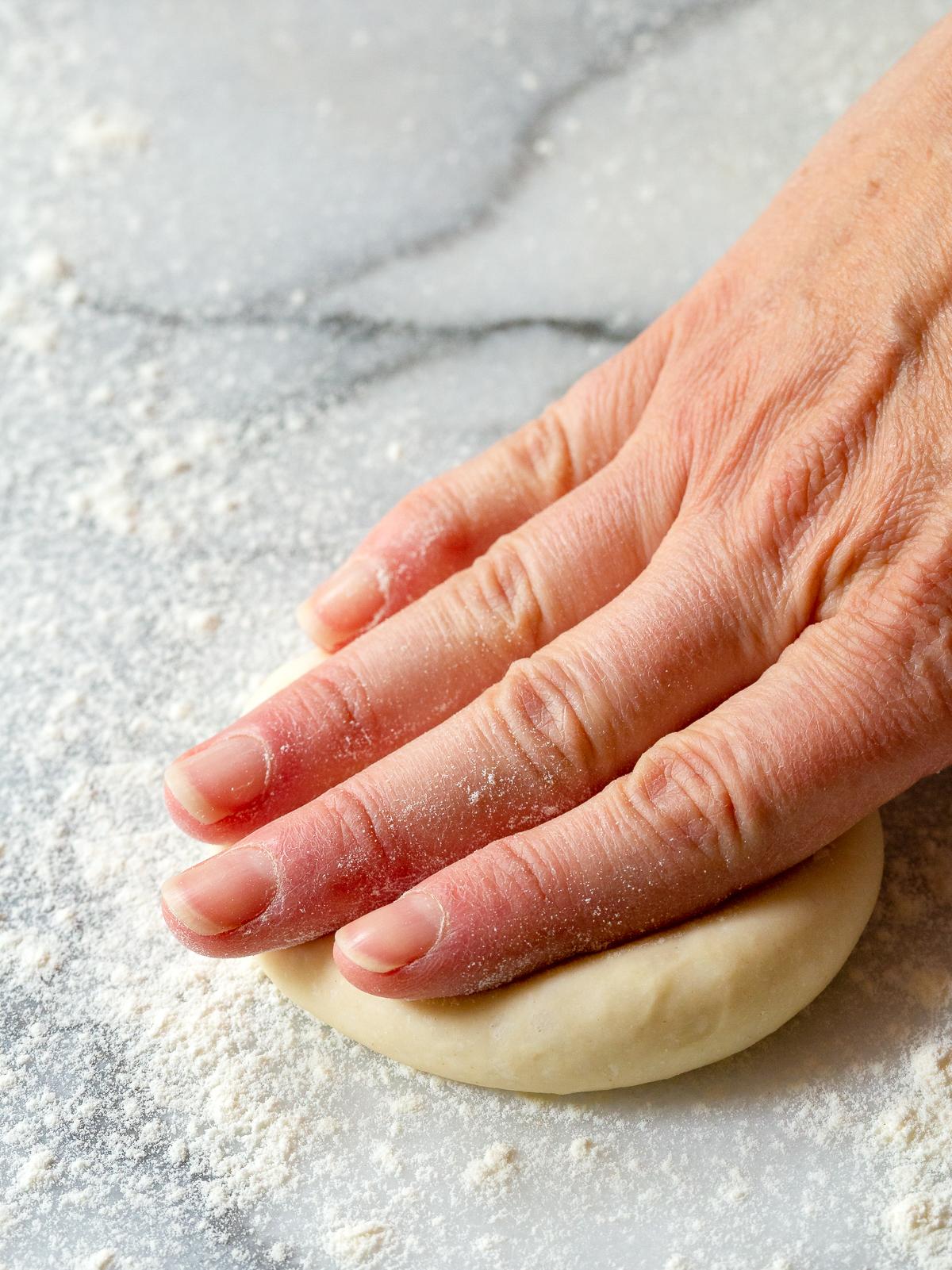 Press Dough Flat