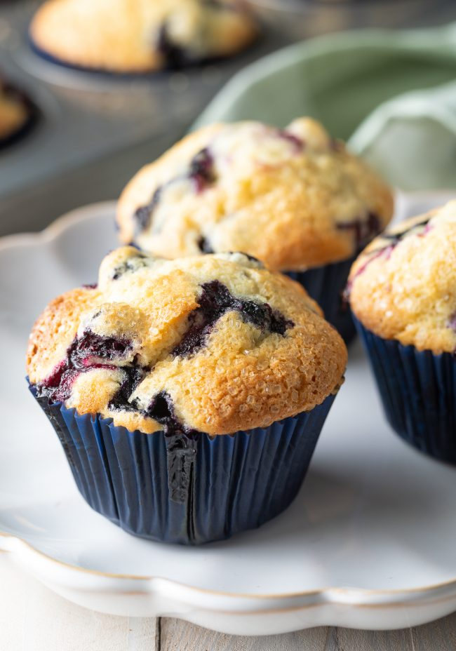 muffins with blueberries and lemon