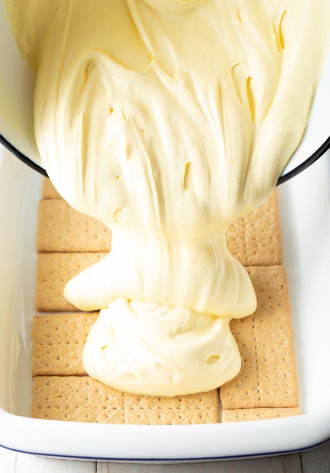 no-bake vanilla pudding graham cracker cake