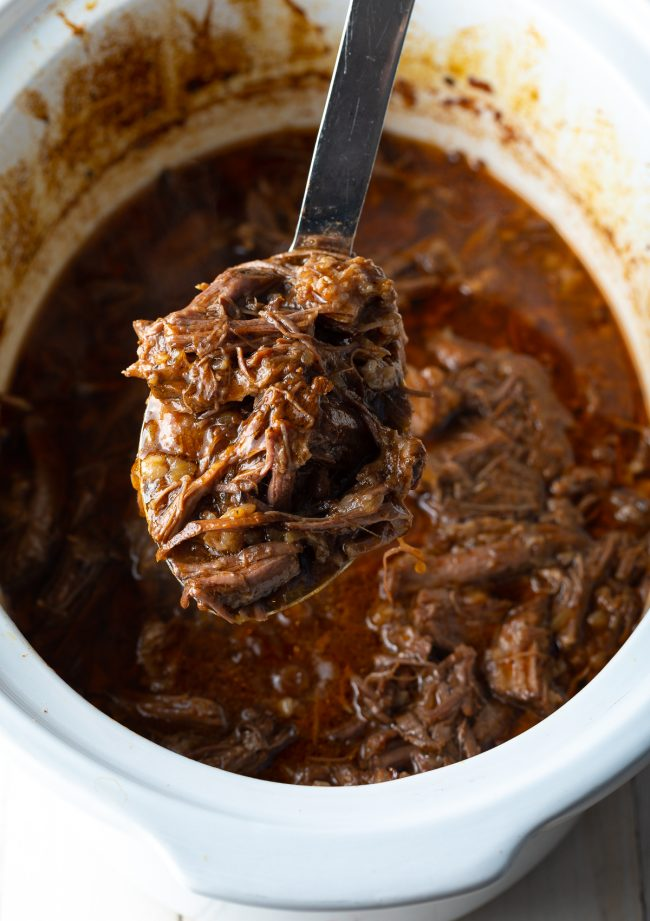 crockpot roast beef recipe in the slow cooker