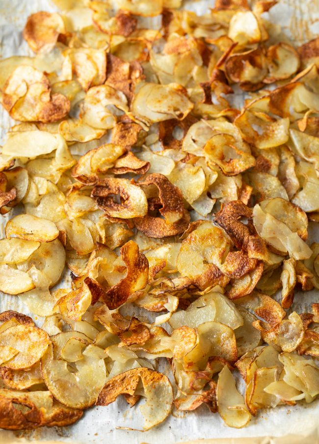crunchy oven roasted potato ribbons