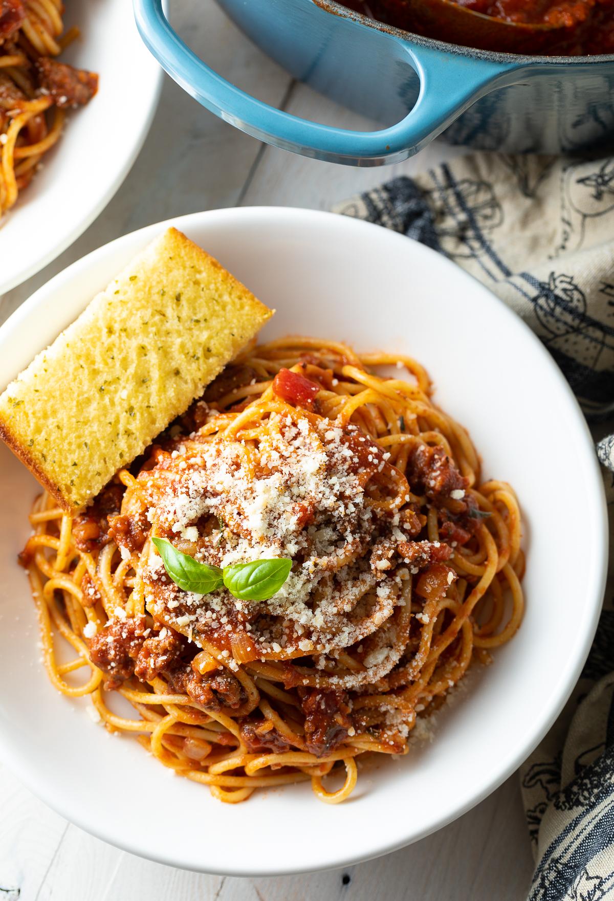 Nana's Best Meat Sauce with Spaghetti Recipe