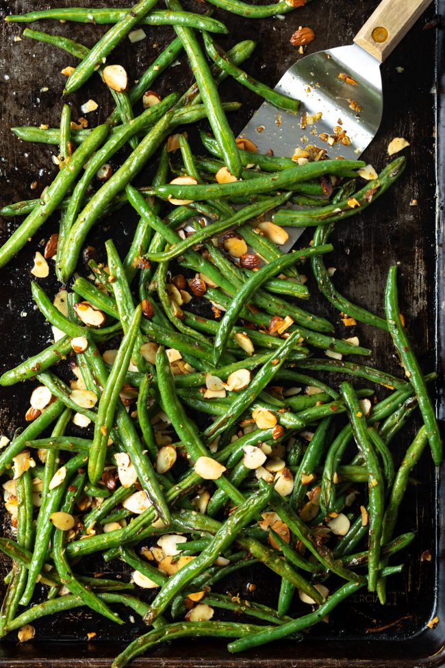 how to roast beans with almonds
