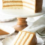 southern caramel cake with salted caramel frosting