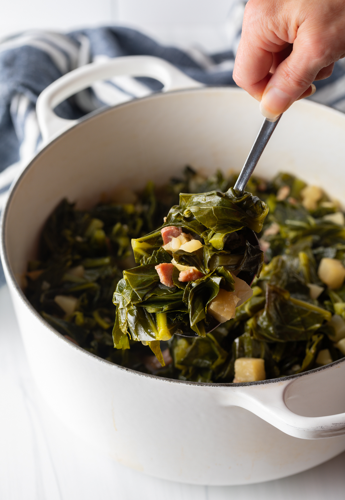 southern greens with turnips and bacon