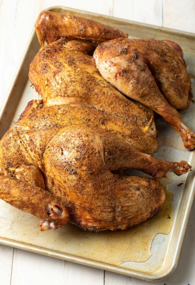 spiced roasted whole turkey recipe