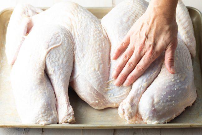 raw whole turkey