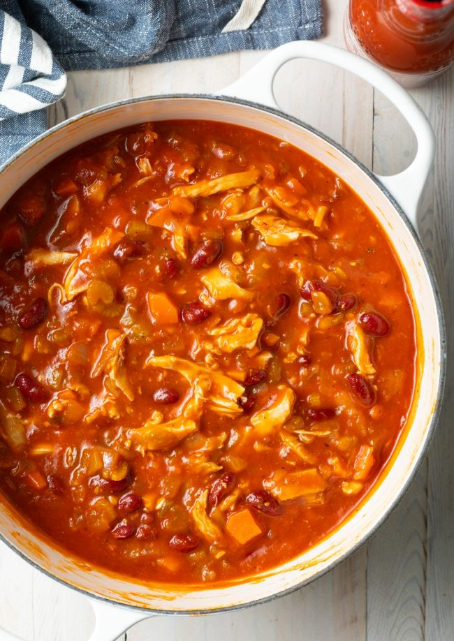 crockpot chicken chili