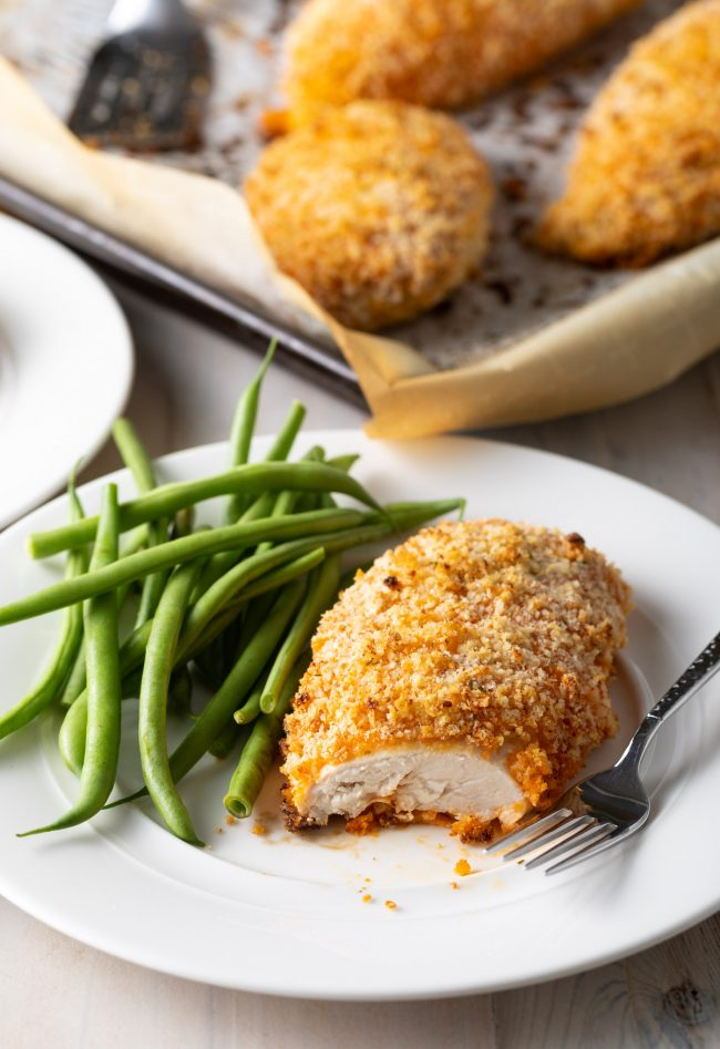 easy oven baked buffalo chicken breast with green beans