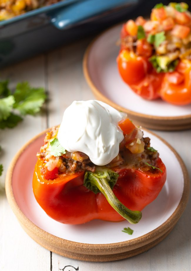 stuffed bell peppers with sour cream