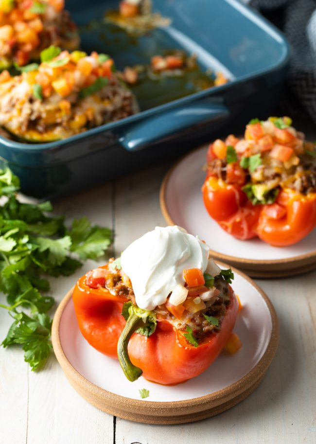 low carb keto stuffed taco peppers recipe
